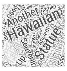 Hawaiian Souvenirs Word Cloud Concept vector