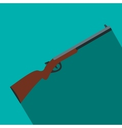 Hunting shotgun flat icon vector image