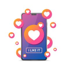 like me concept with realistic detailed 3d mobile vector image