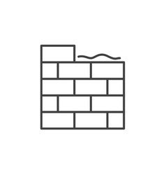 Masonry concept simple icon in thin line vector