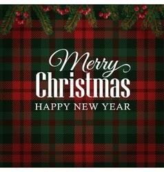 Merry christmas greeting card invitation vector
