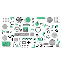minimal memphis shapes abstract geometric graphic vector image