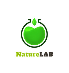 Nature lab logo template vector