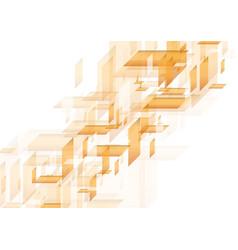 orange abstract hi-tech shapes pattern vector image