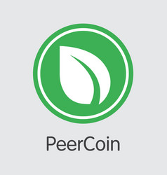 Peercoin - blockchain cryptocurrency coin symbol vector