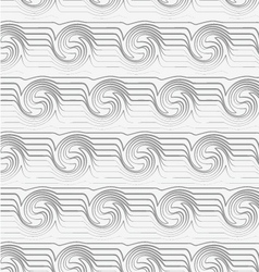 Perforated striped swirling waves vector