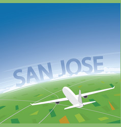 San jose flight destination vector