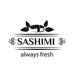 Sashimi logo vector