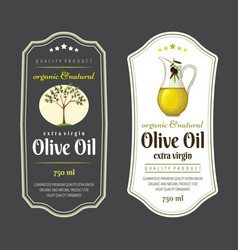 set flat labels and badges olive oil vector image