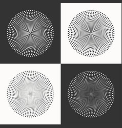 Set of circles dots and triangles vector