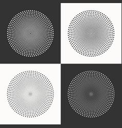 set of circles dots and triangles vector image