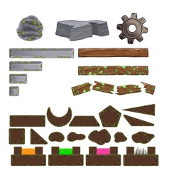 Set of game elements vector