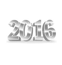 silver 2016 numbers vector image