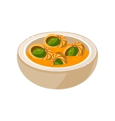 Snail Soup in a Bowl vector image