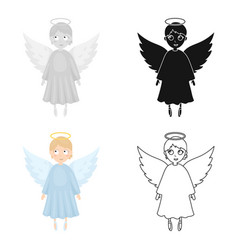 soul icon in cartoon style isolated on white vector image