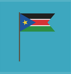 south sudan flag icon in flat design vector image