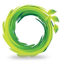 Swirly leafs logo vector image