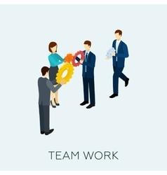 Teamwork concept isometric vector