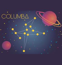 The constellation columba vector