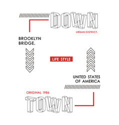 typography downtown brooklyn vector image