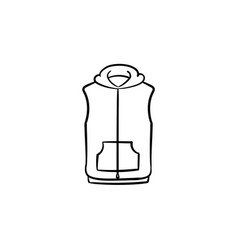vest jacket hand drawn sketch icon vector image