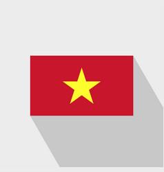 vietnam flag long shadow design vector image
