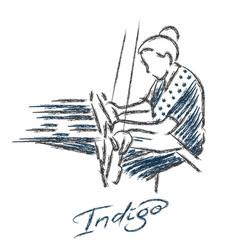 Weaving logo hand draw vector