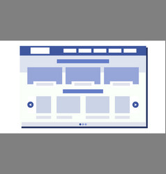 website flat design site webpage web page vector image