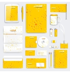 yellow set corporate identity template vector image