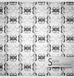 abstract seamless pattern floral lattice row vector image