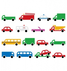 city transport symbols vector image