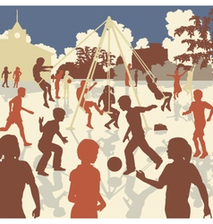 Kids playtime vector image vector image