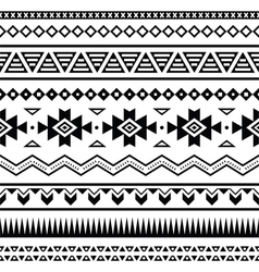 Aztec mexican seamless pattern vector image vector image