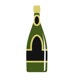 champagne bottle icon isolated vector image vector image