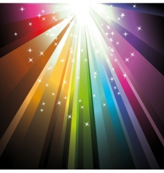 rainbow light with delicate stars vector image vector image