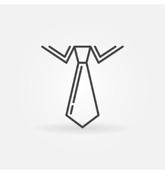 Tie linear icon vector image