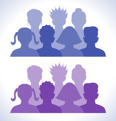 web groups icon vector image vector image