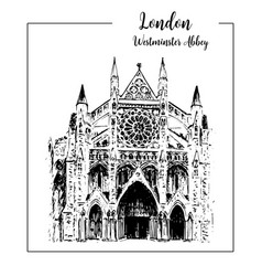 westminster abbey london architectural symbol vector image vector image