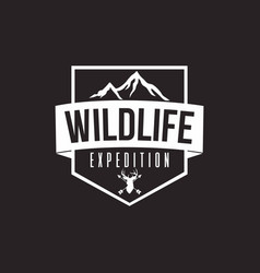 wilderness expedition template design vector image