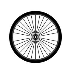 Bicycle wheel vector image vector image