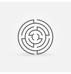 Round labyrinth line icon vector