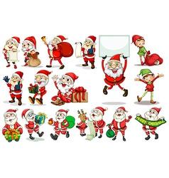Santa actions vector image vector image