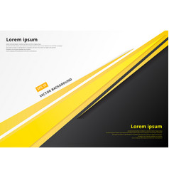template corporate concept yellow black grey and vector image