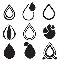Water Drop Icons Set - vector image vector image