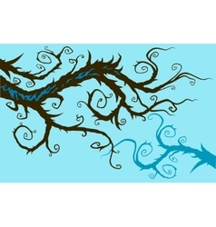 Whimsical branch vector