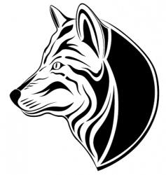 wolf tattoo vector image
