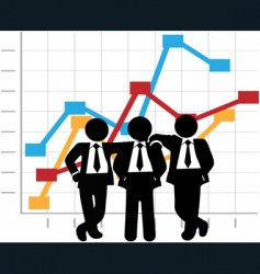 business men vector image