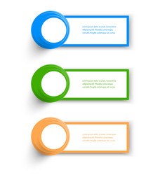 Collection Web Banner design vector image vector image