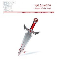 dagger of witch vector image vector image