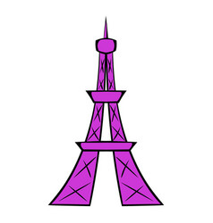 eiffel tower icon cartoon vector image vector image